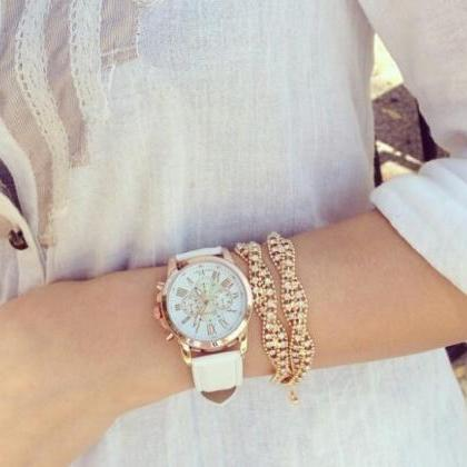 leather watch, bracelet watch, vint..