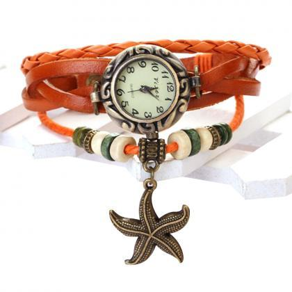 Starfish Watch, Starfish Leather Wa..