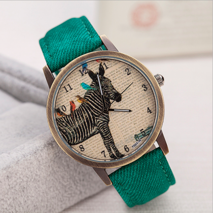 Horse leather watch, leather watch,..