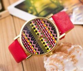 Aztec print watch, A..