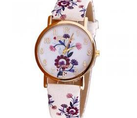 Flower leather band ..