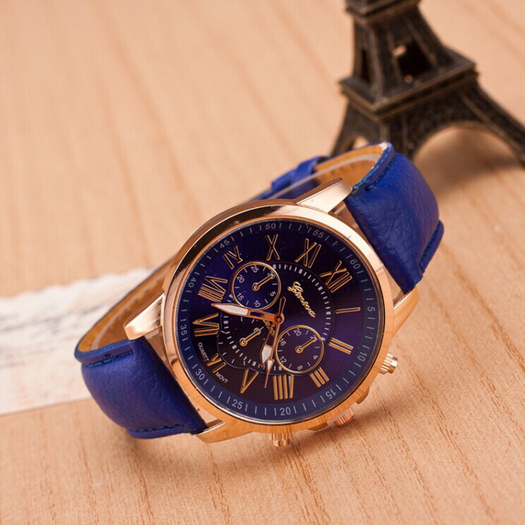 collection blue band watches guess