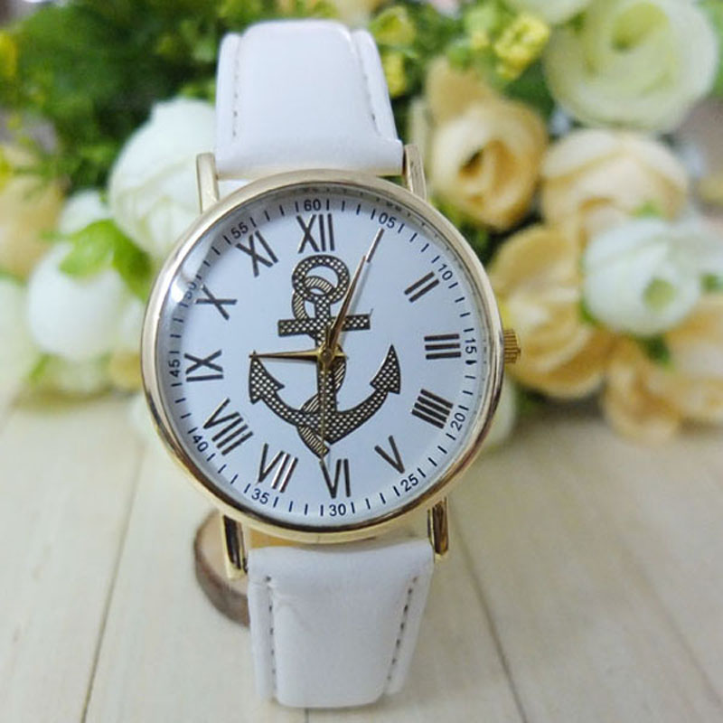 Anchor watch, anchor leather watch, leather watch, bracelet watch, vintage watch, retro watch, woman watch, lady watch, girl watch, unisex watch, AP00205