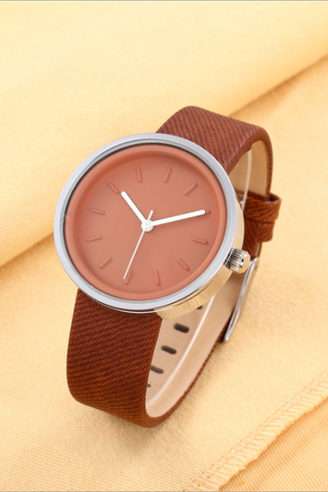 Simple design leather watch, bracelet watch, vintage watch, retro watch, woman watch, lady watch, girl watch, unisex watch, AP00642
