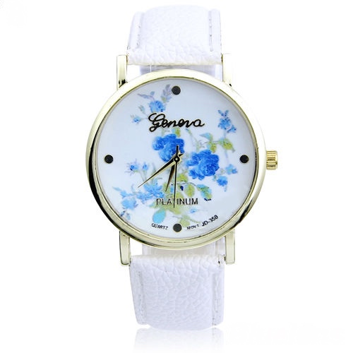 rose watch, flower leather watch, floral watch, leather watch, bracelet watch, vintage watch, retro watch, woman watch, lady watch, girl watch, unisex watch, AP00128