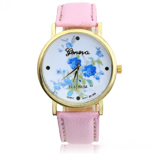 rose watch, flower leather watch, floral watch, leather watch, bracelet watch, vintage watch, retro watch, woman watch, lady watch, girl watch, unisex watch, AP00129
