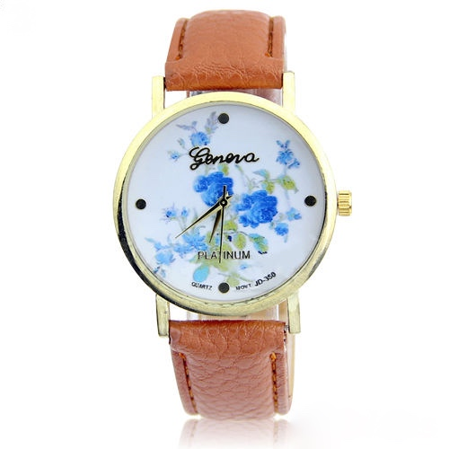 rose watch, flower leather watch, floral watch, leather watch, bracelet watch, vintage watch, retro watch, woman watch, lady watch, girl watch, unisex watch, AP00130