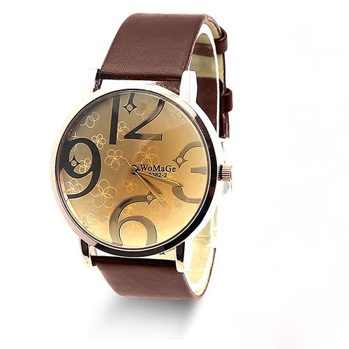 Style watch, brown leather watch, leather watch, bracelet watch, vintage watch, retro watch, woman watch, lady watch, girl watch, unisex watch, AP00180