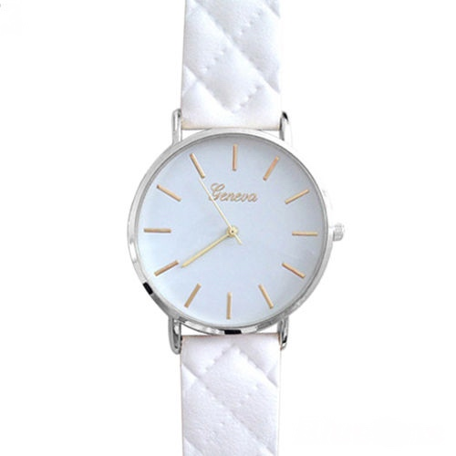 Chic watch, white leather watch, leather watch, bracelet watch, vintage watch, retro watch, woman watch, lady watch, girl watch, unisex watch, AP00184