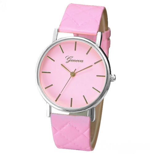 Chic watch, pink leather watch, leather watch, bracelet watch, vintage watch, retro watch, woman watch, lady watch, girl watch, unisex watch, AP00185