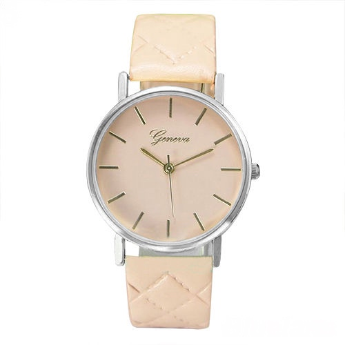 Chic watch, beige leather watch, leather watch, bracelet watch, vintage watch, retro watch, woman watch, lady watch, girl watch, unisex watch, AP00186