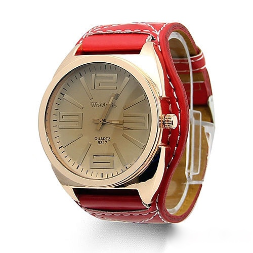 Mens Classic Quartz Watch, Red Leather Watch, Style Leather Watch, Bracelet Watch, Vintage Watch, Retro Watch, Woman Watch, Lady Watch, Girl Watch, Unisex Watch, AP00224