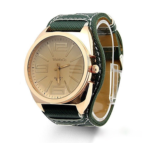 Mens Classic Quartz Watch, Green Leather Watch, Style Leather Watch, Bracelet Watch, Vintage Watch, Retro Watch, Woman Watch, Lady Watch, Girl Watch, Unisex Watch, AP00226