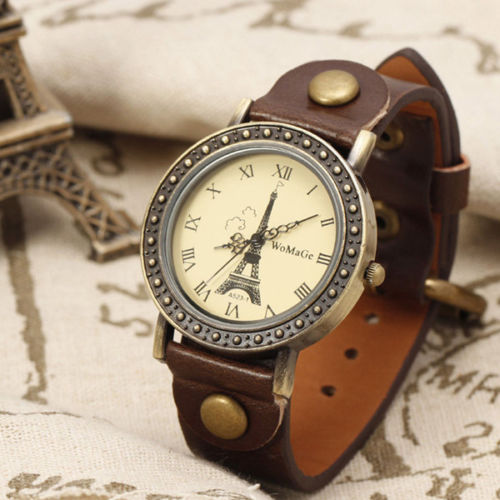 Tower watch, tower leather watch, leather watch, bracelet watch, vintage watch, retro watch, woman watch, lady watch, girl watch, unisex watch, AP00227