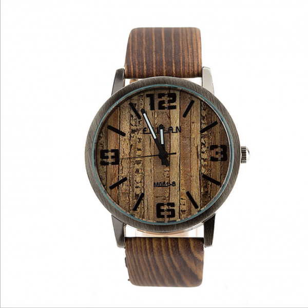 Vintage wood pattern leather watch, leather watch, bracelet watch, vintage watch, retro watch, woman watch, lady watch, girl watch, unisex watch, AP00573