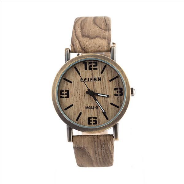 Vintage wood pattern leather watch, leather watch, bracelet watch, vintage watch, retro watch, woman watch, lady watch, girl watch, unisex watch, AP00575