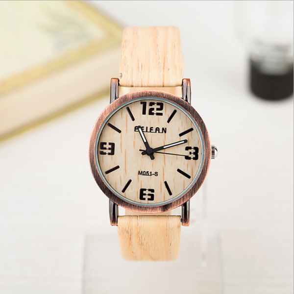Vintage wood pattern leather watch, leather watch, bracelet watch, vintage watch, retro watch, woman watch, lady watch, girl watch, unisex watch, AP00576